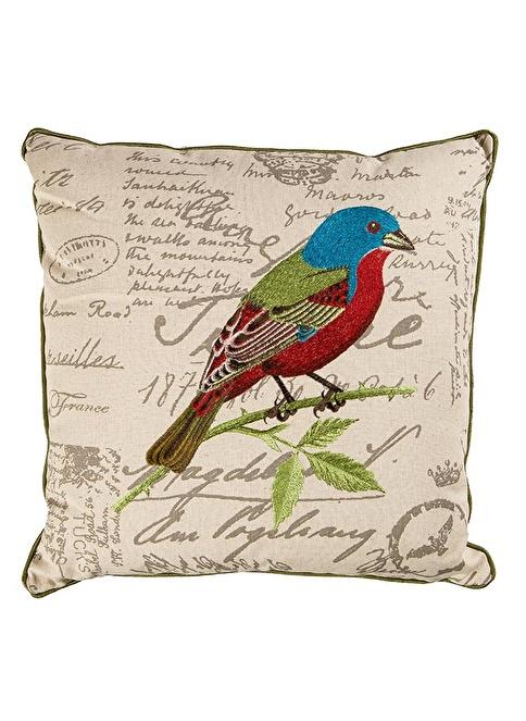 Love Letter Keten Kare Yastık Renkli